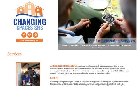 Screenshot of Services Page changingspacessrs.com - Services  |  Changing Spaces - captured May 16, 2017