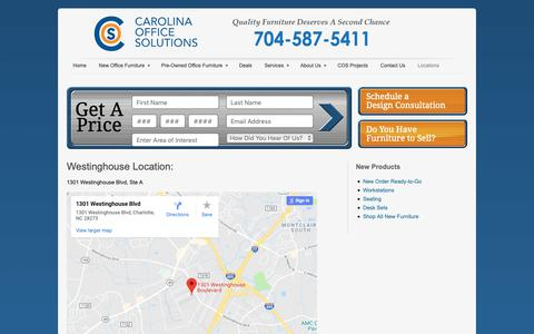 Screenshot of Locations Page carolinaofficesolutions.com - Locations - captured Nov. 4, 2018