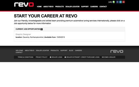 Screenshot of Jobs Page revotechnik.com - Start your Career at Revo | Revo Technik - captured Feb. 15, 2016