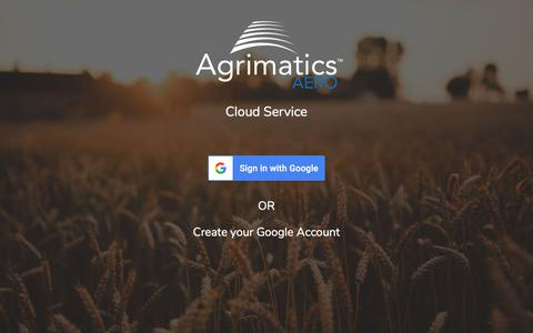 Screenshot of Signup Page agrimatics.com - Agrimatics Aero - captured July 29, 2018