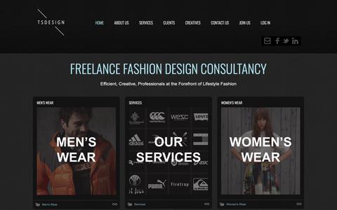 Screenshot of Home Page sowa.co - Freelance Fashion Designer Consultancy   TSDesign.eu.com   London UK - captured Oct. 1, 2018