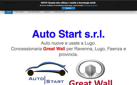 Screenshot of Home Page autostartsrl.it - Auto Start srl - Home - captured May 30, 2017