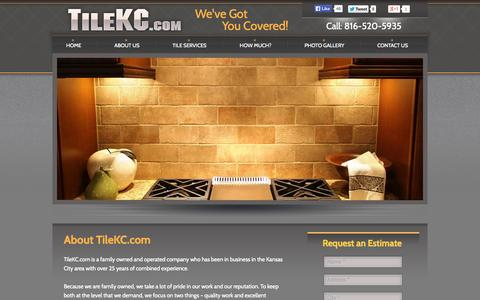Screenshot of About Page tilekc.com - About Us | Tile Company | Kansas City | - captured Oct. 5, 2014