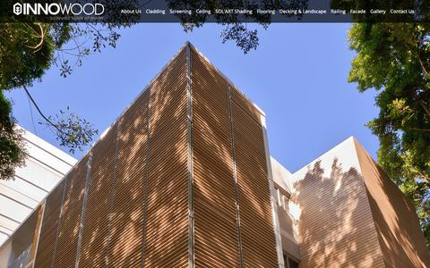 Screenshot of Home Page innowood.com - INNOWOOD Sustainable Composite Timber | cladding | screening | flooring - captured Nov. 1, 2018