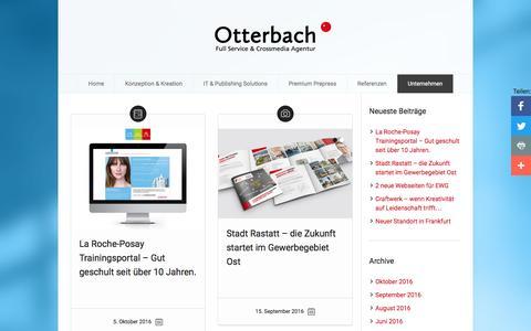 Screenshot of Press Page otterbach.de - News • Otterbach – Full Service & Crossmedia Agentur - captured Dec. 2, 2016