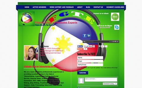 Screenshot of webs.com - Agencia De Yamba & FGTE - captured Oct. 10, 2014
