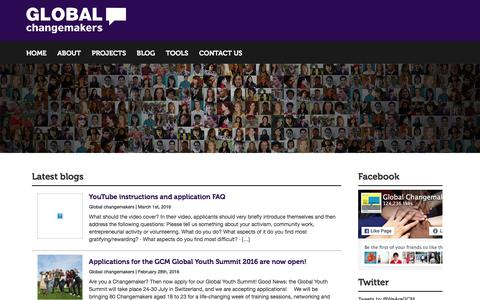 Screenshot of Blog global-changemakers.net - Global Changemakers » blog - captured March 4, 2016