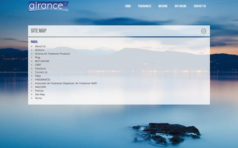 Screenshot of Site Map Page airance.com - Site Map - captured Sept. 30, 2014