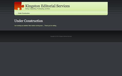 Screenshot of Home Page kingstoneditorial.com - Kingston Editorial Services - Editing, Copyediting, Proofreading, and More - captured Oct. 6, 2014