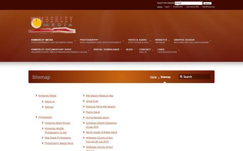 Screenshot of Site Map Page kimberleymedia.com.au - Sitemap –  kimberleymedia.com.au - captured Sept. 30, 2014