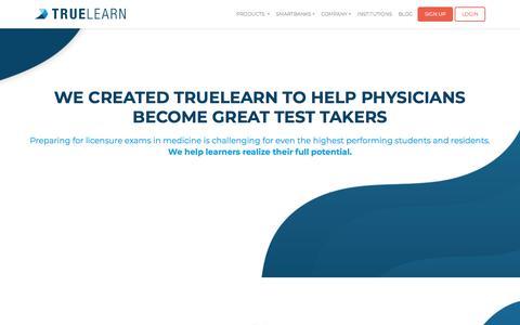 Screenshot of About Page truelearn.com - About - Truelearn | TrueLearn - captured July 22, 2019