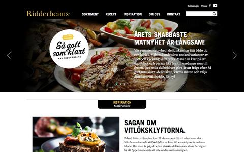 Screenshot of Home Page ridderheims.se - Ridderheims - Start - captured Jan. 29, 2015