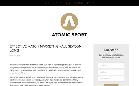 Screenshot of Blog atomic-sport.com - BLOG — ATOMIC SPORT - captured Aug. 2, 2015