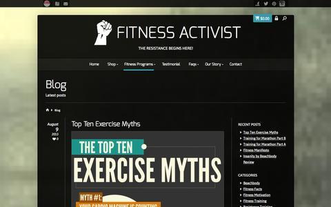 Screenshot of Blog fitnessactivist.com - Blog - Fitness Activist - captured Sept. 30, 2014