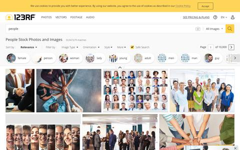 Screenshot of Team Page 123rf.com - People Stock Photos And Images - 123RF - captured July 19, 2019