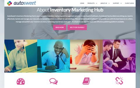 Screenshot of Home Page autosweet.com - Home - AutoSweet - captured Aug. 2, 2015