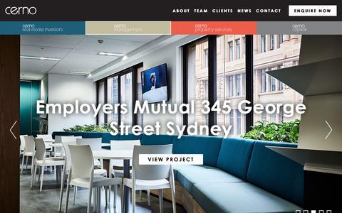 Screenshot of Team Page cerno.com.au - Cerno Management | Project Delivery Services | East Coast of Australia - captured Sept. 27, 2018
