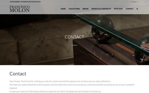 Screenshot of Contact Page francescomolon.com - Contacts   FRANCESCO MOLON - captured Nov. 14, 2018