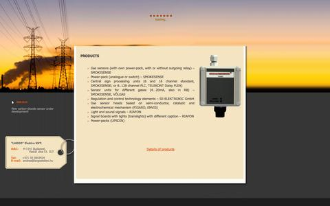Screenshot of Products Page largoelektro.com - Largo Elektro - captured Oct. 1, 2014
