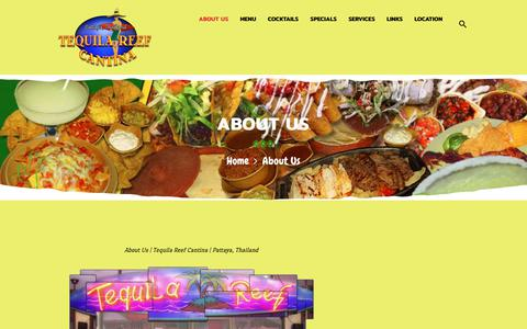Screenshot of About Page tequilareef.com - About Us - Tequila Reef Pattaya Restaurant - captured Oct. 20, 2018