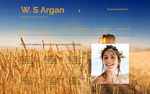 Screenshot of Contact Page wsargan.com - wsargan | CONTACT US - captured May 20, 2018