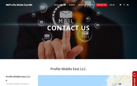 Screenshot of Contact Page profileme.ae - Contact us Form – Profile Middle East - captured Sept. 30, 2018