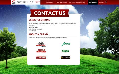 Screenshot of Contact Page schillergc.com - Contact Us – Schiller Grounds Care - captured Oct. 5, 2017
