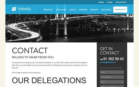 Screenshot of Contact Page stratio.com - Contact - Stratio Big Data Pure Spark - captured Oct. 7, 2014