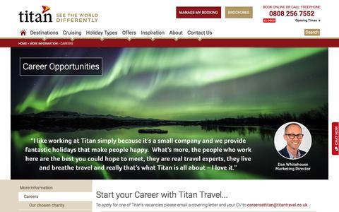 Screenshot of Jobs Page titantravel.co.uk - Careers | Titan Travel - captured Nov. 16, 2017