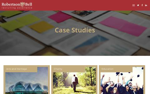 Screenshot of Case Studies Page robertsonbell.co.uk - Recent Campaigns / Case Studies - Robertson Bell - captured Sept. 21, 2018