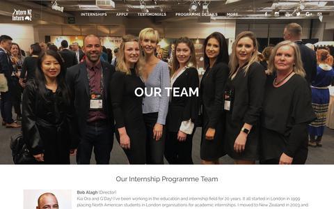 Screenshot of Team Page internnzoz.com - Our Team - Intern NZ & Intern OZ - captured Oct. 12, 2018