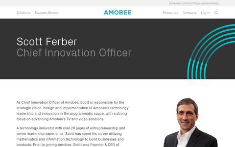 Screenshot of Team Page amobee.com - Scott Ferber — Amobee - captured Nov. 18, 2019