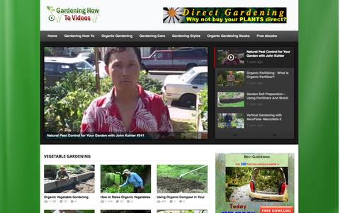 Screenshot of Home Page gardeninghowtovideos.com - Gardening How To  Videos | Website with a nice collection of videos about Gardening - captured Oct. 4, 2014