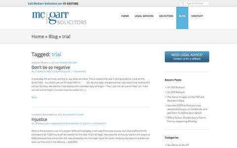 Screenshot of Trial Page mcgarrsolicitors.ie - trial Archives - McGarr Solicitors - Dublin Solicitors Ireland - captured July 27, 2018