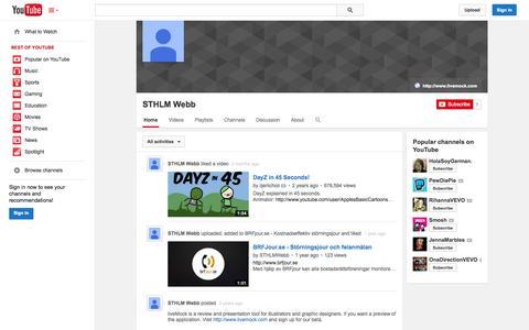 Screenshot of YouTube Page youtube.com - STHLM Webb  - YouTube - captured Oct. 23, 2014