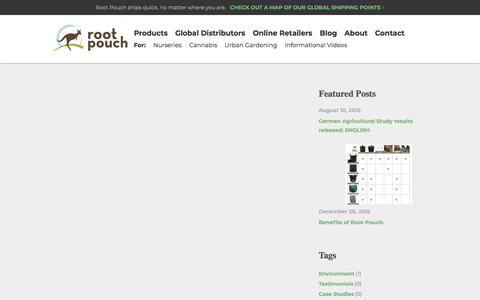 Screenshot of Case Studies Page rootpouch.com - Root Pouch - captured Sept. 21, 2018