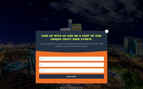 Screenshot of Home Page downtownbrewfestival.com - Downtown Brew Festival | Beer Fest Las Vegas | October 21, 2017 - captured Feb. 3, 2018