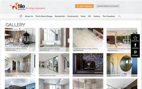 Screenshot of Case Studies Page tilewarehouse.co.nz - Gallery Listings - captured Oct. 19, 2018
