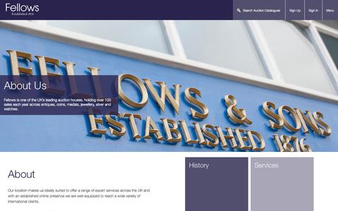 Screenshot of About Page fellows.co.uk - About Fellows & Sons Ltd - Established 1876 - Based in Birmingham & London - captured Nov. 2, 2014