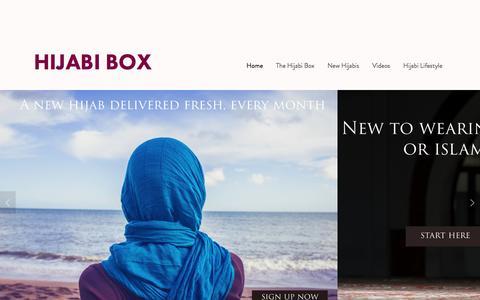Screenshot of Home Page hijabi-box.com - Hijabi Box - captured May 19, 2017