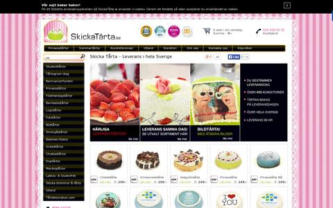 Screenshot of Home Page skickatarta.se - Skicka Tårta - captured July 11, 2014