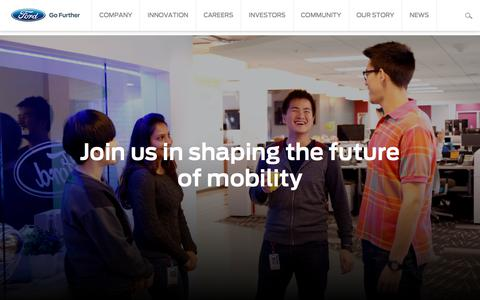 Screenshot of Press Page ford.com - Ford Motor Company Official Global Corporate Homepage | Ford.com - captured July 27, 2018