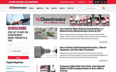 Screenshot of Blog chemtronics.com - Articles, reviews, news, promotions, tips | Chemtronics - captured Nov. 4, 2018