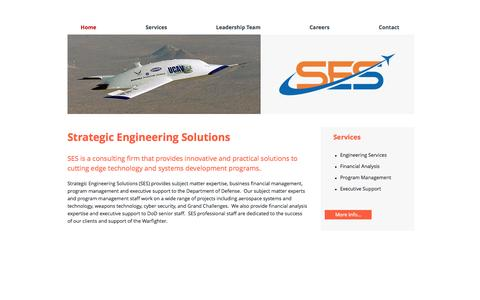 Screenshot of Home Page strategicengineeringsolutions.com - Strategic Engineering Solutions - captured Oct. 12, 2014