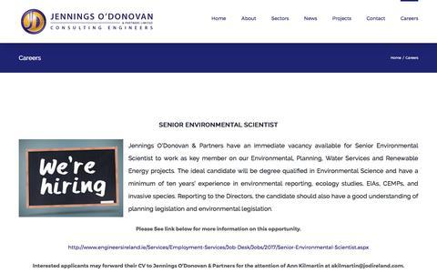 Screenshot of Jobs Page jodireland.com - Careers – Jennings O'Donovan - captured Oct. 16, 2017