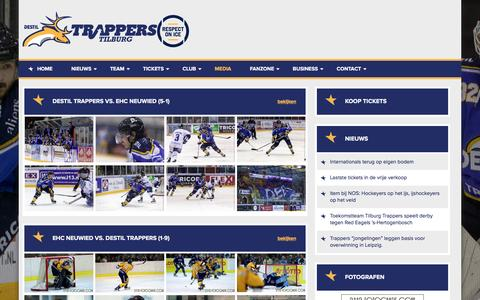 Screenshot of Press Page trappers.nl - Media - captured Feb. 17, 2016
