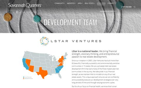 Screenshot of Developers Page savannahquarters.com - LStar - Savannah Quarters Developer - captured July 27, 2018
