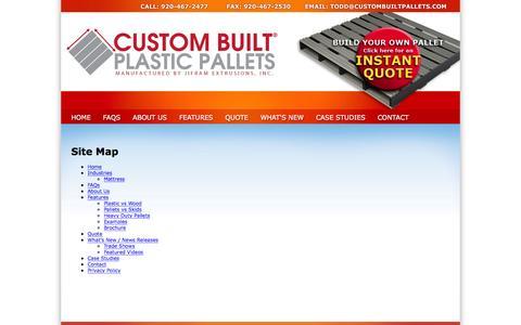 Screenshot of Site Map Page custombuiltpallets.com - Sitemap   Jifram, an experienced custom built plastic pallet manufacturer - captured Feb. 1, 2016