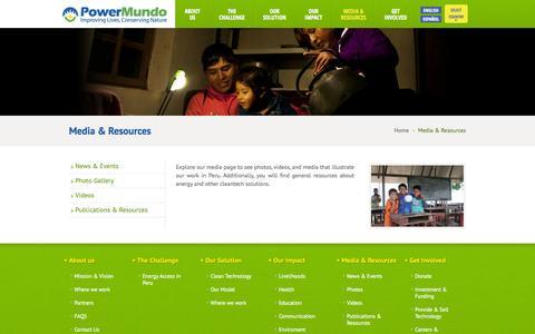 Screenshot of Press Page powermundo.com - Media & Resources   Powermundo - captured Sept. 30, 2014