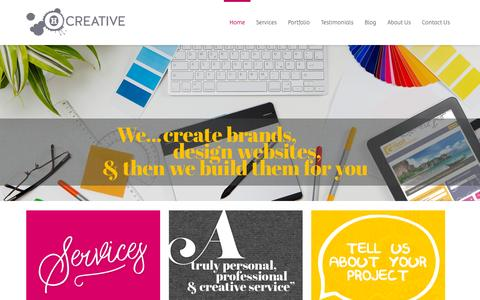 Screenshot of Home Page ohcreative.co.uk - Home - OH Creative Web Design & Development in Dorking, Surrey - captured Nov. 11, 2015